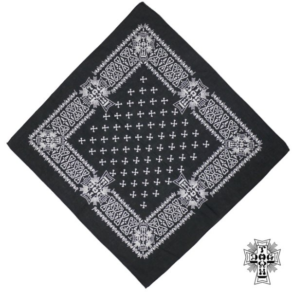 画像1: [DOGTOWN]-BANDANA-BLACK- (1)