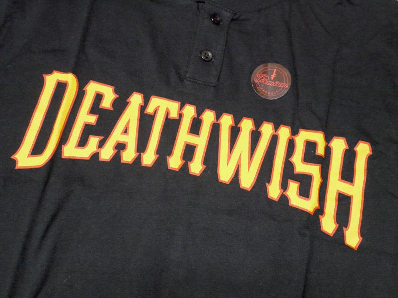 DEATHWISH  NIGHTMARE   デスウィッシュ Tシャツ skate  スケーター スケートブランド  ヘンリーネック ロゴ