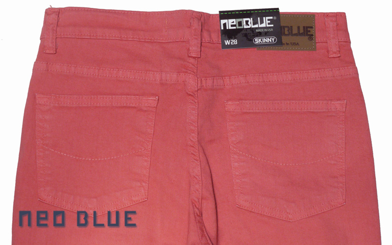 NEO BLUE jogger pants スキニー SKINNY   コーラル ピンク 通販