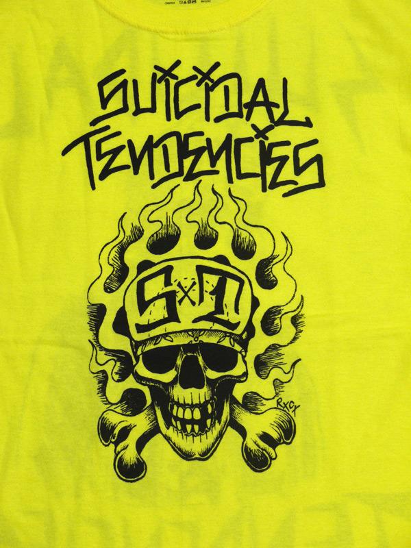 スイサイダルテンデンシーズ SUICIDAL TENDENCIES Tシャツ 新作 通販 TS 33 OG Flipskull YELLOW