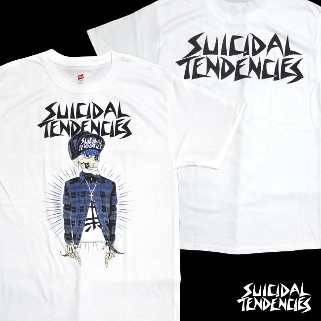スイサイダルテンデンシーズ SUICIDAL TENDENCIES Tシャツ 新作 通販 TS volta white