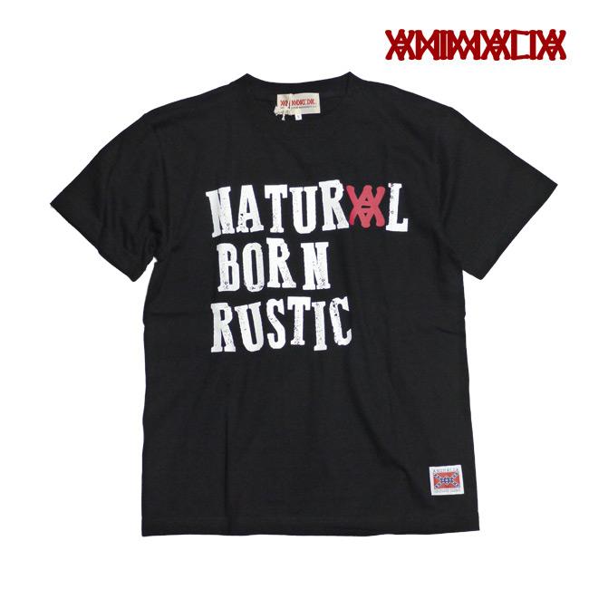 ANIMALIA アニマリア Tシャツ natural born rustic 通販 ブラック