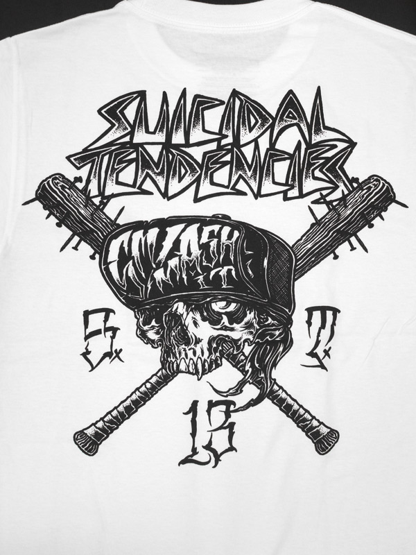 SUICIDAL TENDENCIES METAL MULISHA コラボTシャツ SMASH IT ホワイト