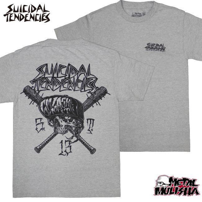 SUICIDAL TENDENCIES METAL MULISHA コラボTシャツ SMASH IT グレイ