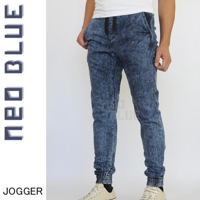 7653 NEO BLUE jogger pants ジョガーパンツ Twill スキニー スケーター 通販