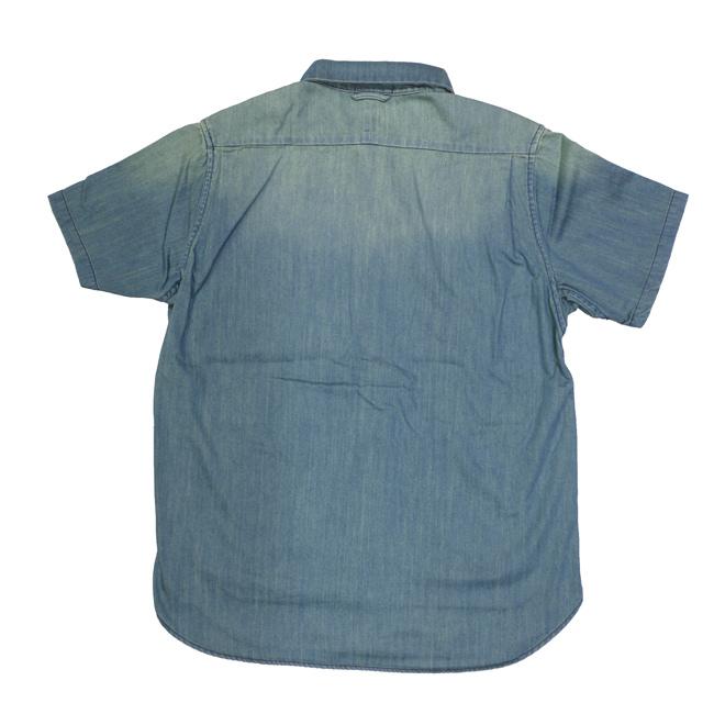 DxAxM シャツ 半袖 スナップボタン サイドポケット SHIRTS 通販 スケーター パンク ロック ファッション デニム ワンウォッシュ