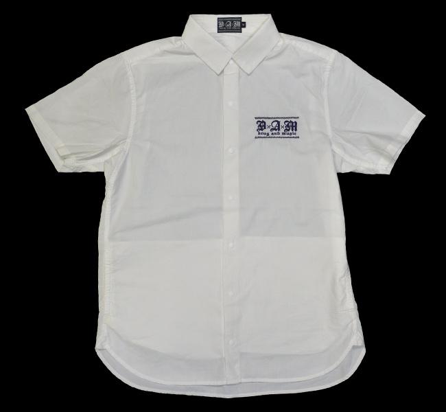 DxAxM シャツ 半袖 スナップボタン サイドポケット SHIRTS 通販 スケーター パンク ロック ファッション ホワイト
