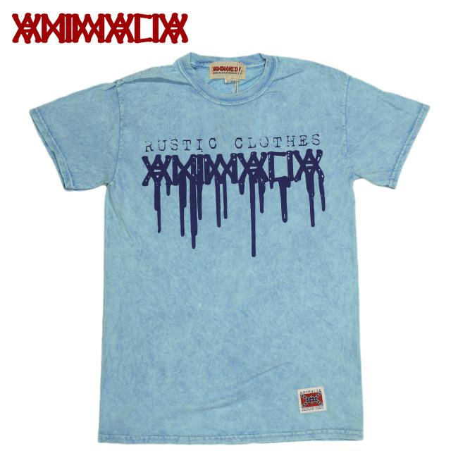 ANIMALIA アニマリア タイダイTシャツ ロゴ ブルー Lblue RUSTIC CLOTHES 通販