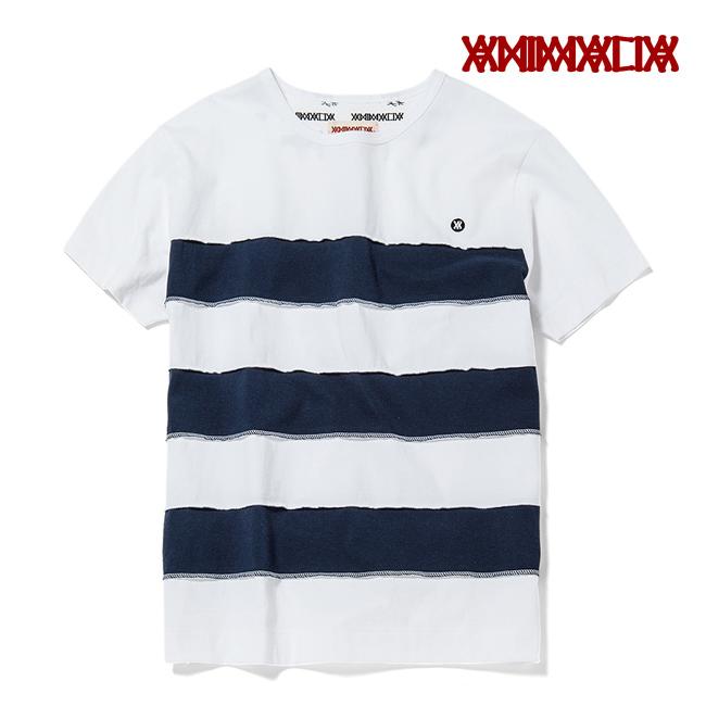 animalia tシャツ カットソー ボーダー 切り返し 刺繍 ロゴ 通販 アパレル