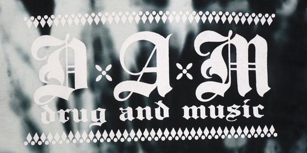 dxaxm tシャツ drug and music タイダイ染め afro skull 通販