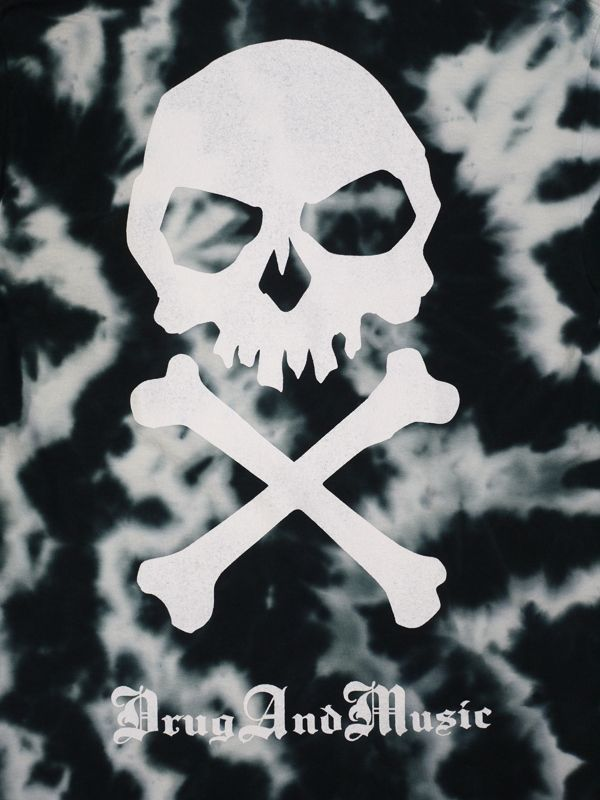 dxaxm tシャツ drug and music タイダイ染め pop skull 通販