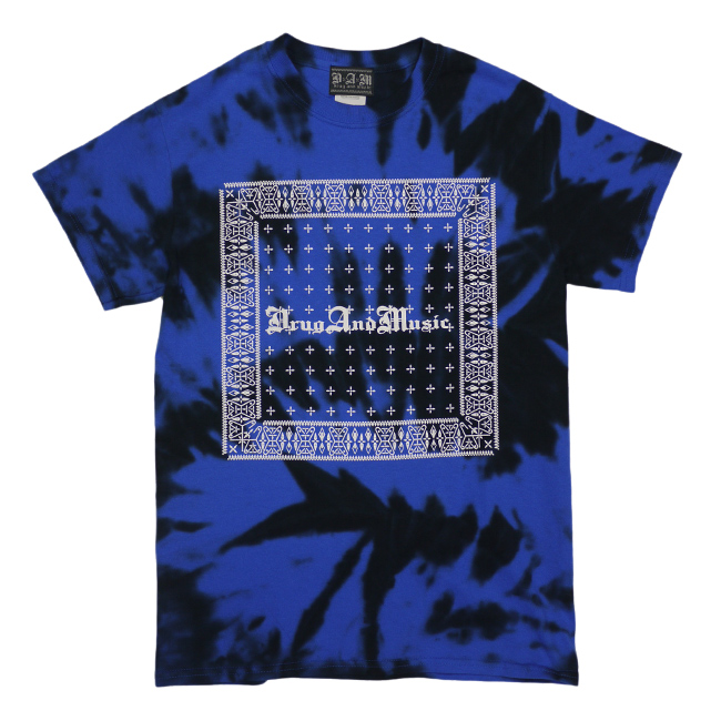 dxaxm tシャツ drug and music タイダイ染め バンダナ 通販
