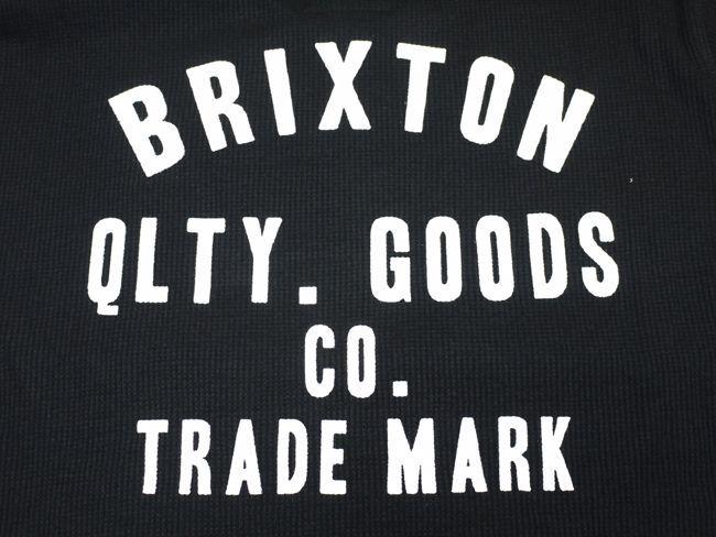 brixton ブリクストン サーマル 長袖シャツ 通販 ブランド 取扱店 WOODBURN L/S KNIT ブラック