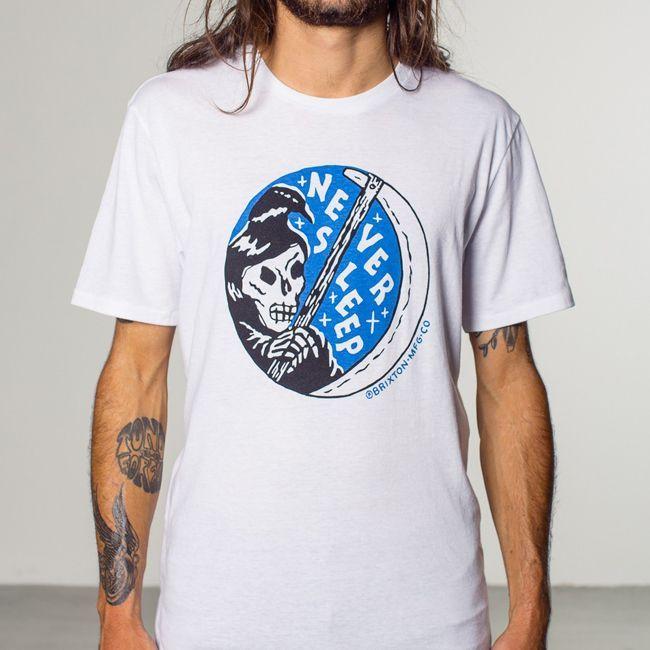 brixton ブリクストン Tシャツ tee 通販 ブランド 取扱店 SLEEPER   白 ホワイト