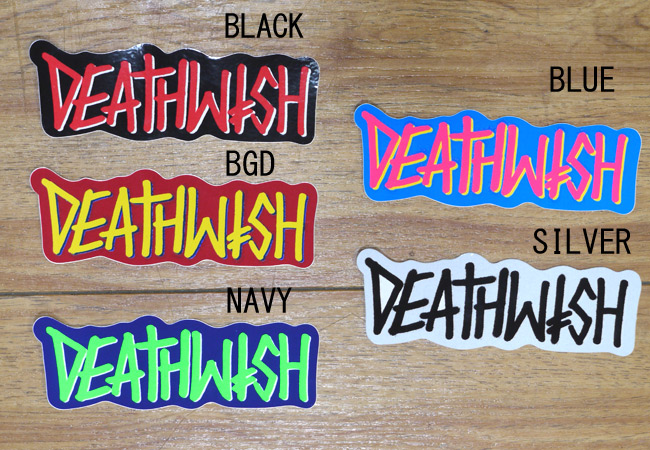 デスウィッシュ DEATHWISH ステッカー 塩ビ スケートボード DEATHSPRAY ロゴ 通販 スケートブランド