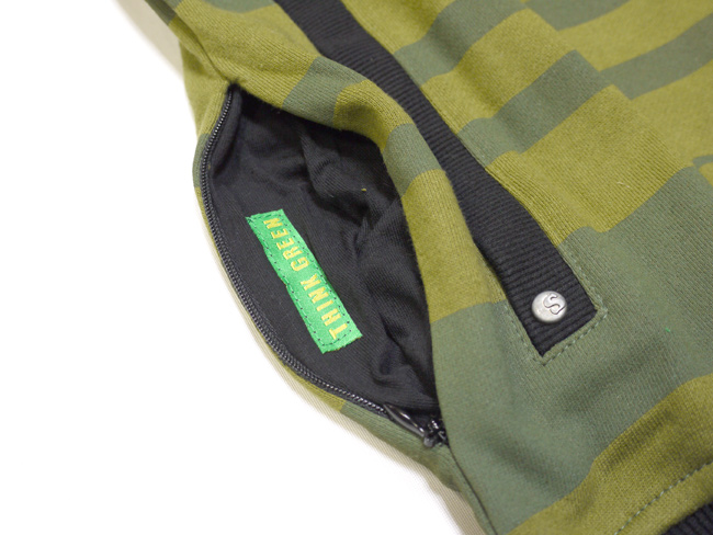 seedleSs  MIX UP STRIPE パーカー 通販 グリーン ボーダー