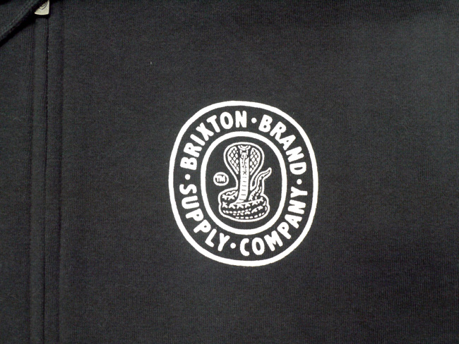 brixton ブリクストン スウェット パーカー クルーネック 通販 ブランド 取扱店 PACE ZIP HOOD FLEECE ブラック