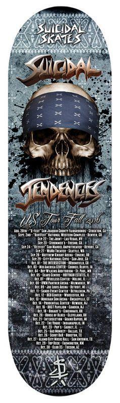 SUICIDLA TENDENCIES WORLD GONE MAD  TOUR  ツアー 2016  スケートボード デッキ スケボー 通販