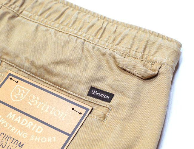 BRIXTON MADRID SHORTS  カーキ ショートパンツ 切りっぱなし パンツ ブリクストン メンズ ファッション 通販 ハーフパンツ