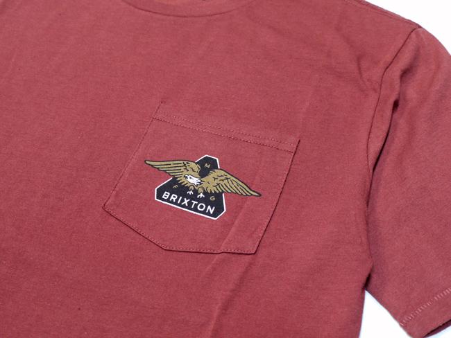 ブリクストン 半袖 Tシャツ brixton TURRET S/S POCKET TEE バーガンディ ポケット ポケティー シンプル メンズファッション メンズアパレル 通販