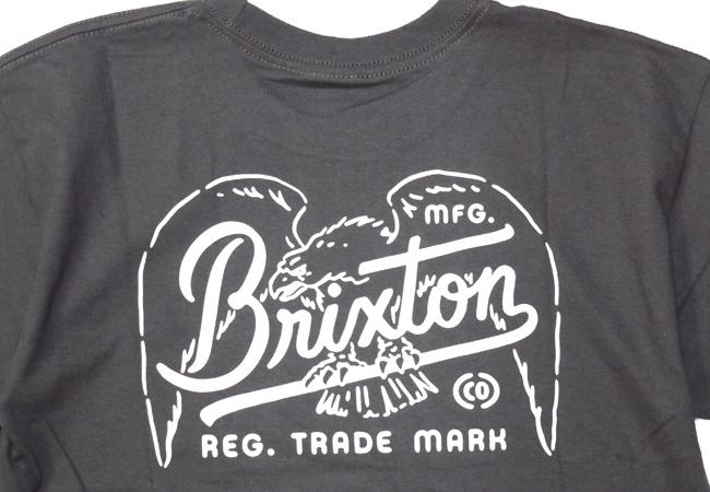 ブリクストン 半袖 Tシャツ brixton KESTREL S/S STANDARD TEE ブラック ウォッシュブラック ロゴ シンプル メンズファッション メンズアパレル 通販