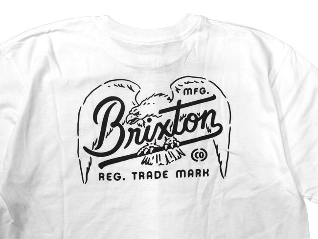 ブリクストン 半袖 Tシャツ brixton KESTREL S/S STANDARD TEE ホワイト ロゴ シンプル メンズファッション メンズアパレル 通販