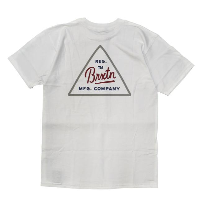ブリクストン 半袖 Tシャツ brixton CUE S/S STANDARD TEE ホワイト トライアングル ロゴ シンプル メンズファッション メンズアパレル 通販