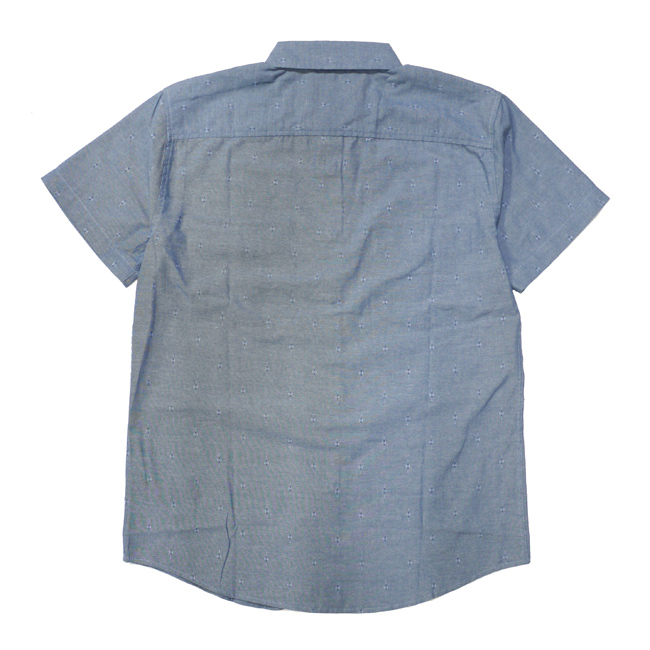 ブリクストン 半袖 シャツ brixton WAYNE S/S WOVEN インディゴ ブルー ライトブルー スナップボタン ボタンダウン メンズファッション メンズアパレル 通販