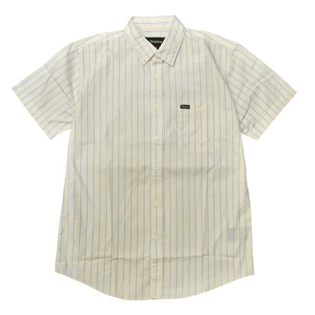 ブリクストン 半袖 シャツ ストライプ brixton HOWL オフホワイト ボタンダウン メンズファッション メンズアパレル 通販