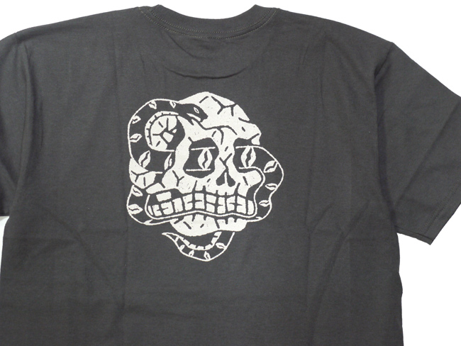ブリクストン 半袖 Tシャツ brixton BOA S/S STANDARD TEE ブラック スカル ワンウォッシュ シンプル メンズファッション メンズアパレル 通販