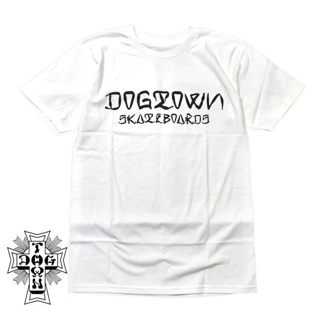 白 DOGTOWN SKATEBOARDS  ドッグタウン ドックタウン Tシャツ Ese