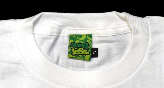 seedless  シードレス SiM  MAH デザイン Tシャツ LIVE FAST SMOKE DEEP 白 通販