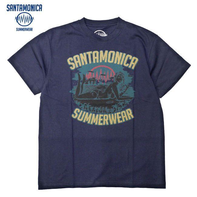 SANTAMONICA SUMMER WEAR Girls on the beach Tシャツ HEY-SMITH ヘイスミス 通販 ネイビーTee
