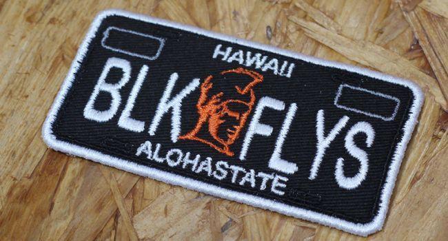 HAWAII WARRIOR PLATE PATCH BLACK FLYS  ブラックフライズ ブラックフライ ワッペン パッチ 通販