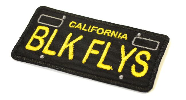 CALI PLATE PATCH BLACK FLYS  ブラックフライズ ブラックフライ ワッペン パッチ 通販