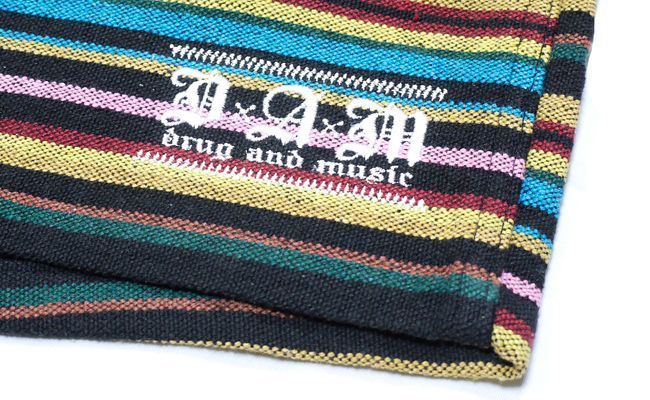 DxAxM ハーフパンツ ショーツ メキシカン ジャガード メンズ ブランド ストリート ストライプ 半ズボン
