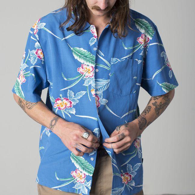 ブリクストン 半袖 シャツ ブランド メンズ brixton  LOVITZ royal ポプリン リラックスフィット 通販