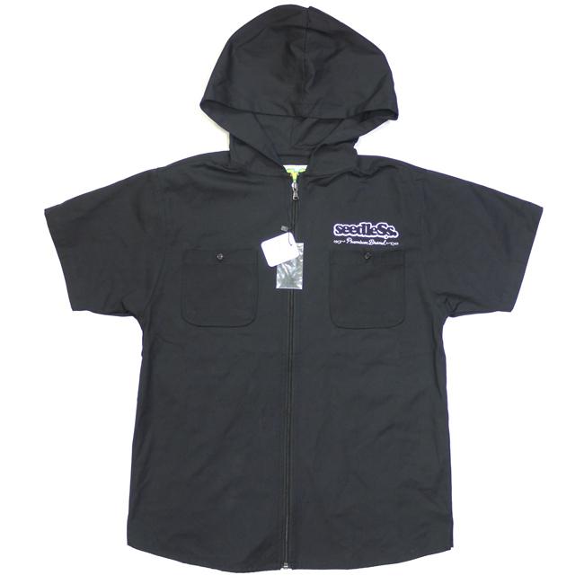 seedless シードレス ブランド アパレル シャツ ジップアップ フーディ メンズ ブラック 取扱店 通販