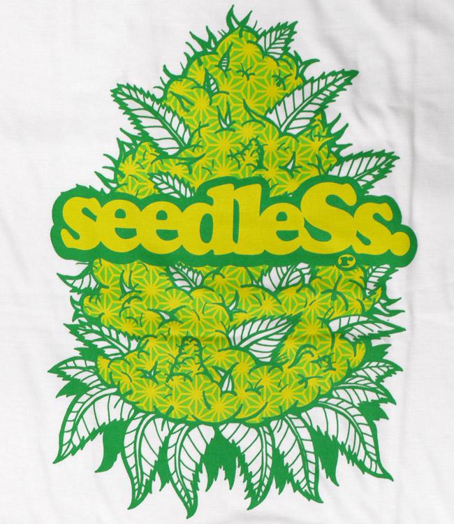 seedless シードレス Tシャツ budz ins   通販 ホワイト  ブランド メンズ 服