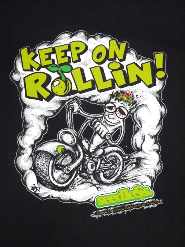シードレス 通販 服 seedless ブランド KEEP ROLLIN Tシャツ メンズ ブラック Tシャツ weed bird