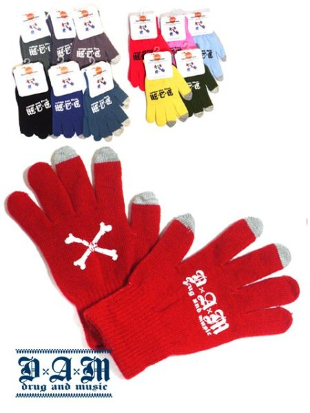 画像1: [DxAxM]-CROSS BONE GLOVE- (1)