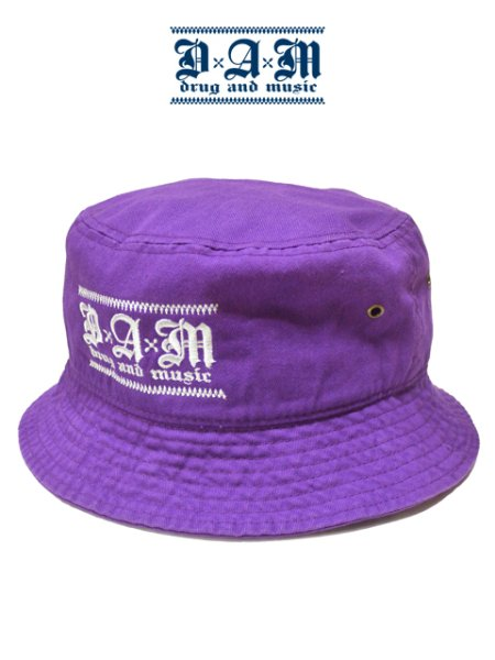 画像1: [DxAxM]-KLASSiC BUCKET HAT-PURPLE- (1)