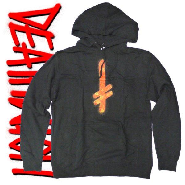 画像1: -30%off-[DEATHWISH]-Gang Logo Blk/Fire Hoodie- (1)