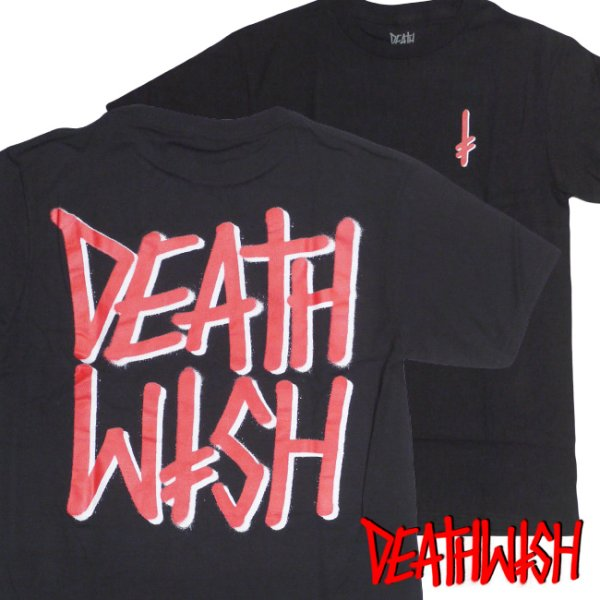 画像1: [DEATHWISH]-ALL FRONTS TEE-BLACK/RED- (1)