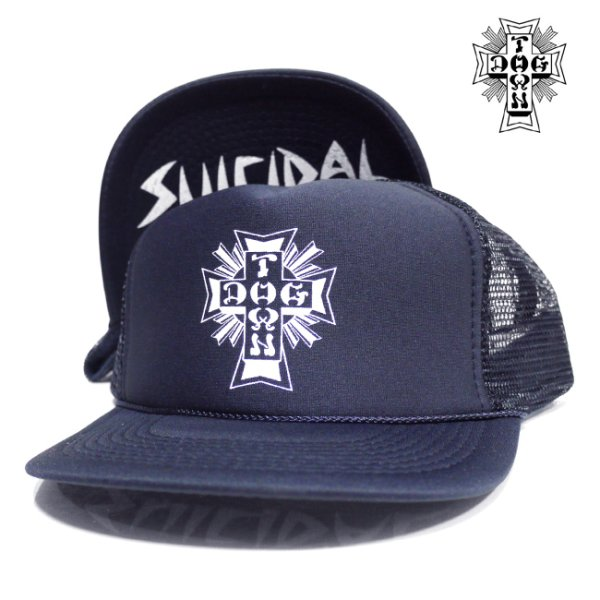 画像1: [DOG TOWN&SUICIDAL TENDENCIES]-FLIP MESH CAP-NAVY- (1)