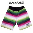 画像1: -SALE-[BLACK FLYS]-BF SARAPE SURF TRANKS-GRN/PNK- (1)