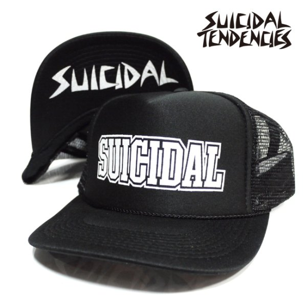 画像1: [SUICIDAL TENDENCIES]-Block SUICIDAL OG Flip Up-BKxWHT- (1)