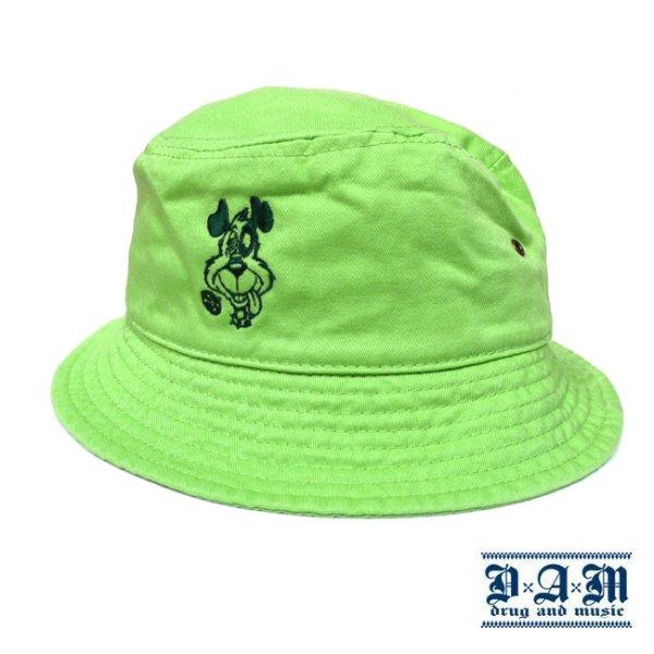 画像1: [DxAxM]-DOG BUCKET HAT-Lt GRN- (1)