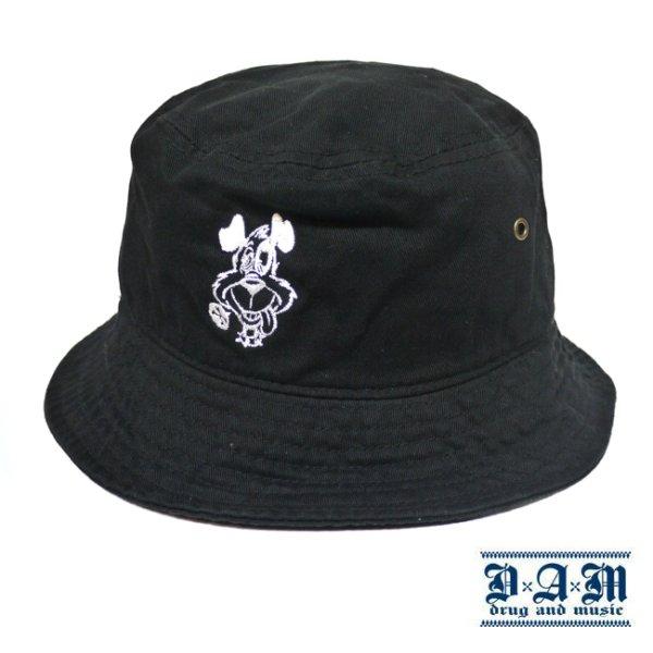 画像1: [DxAxM]-DOG BUCKET HAT-BLACK- (1)