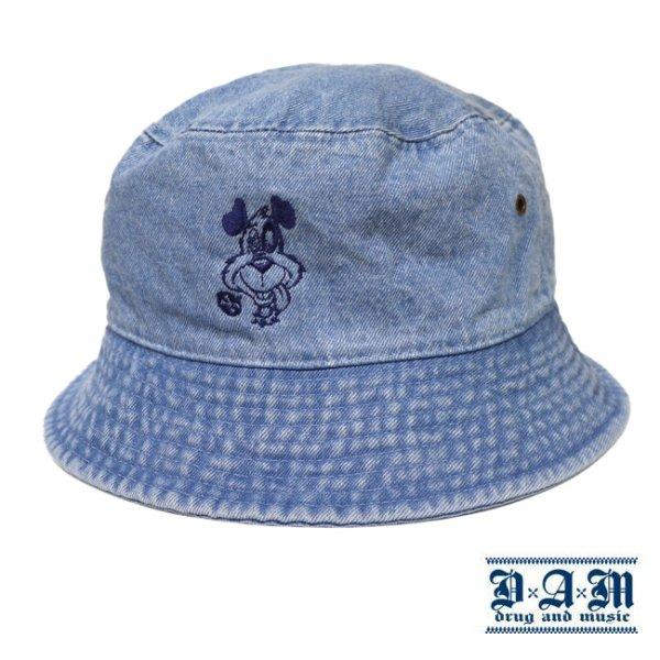 画像1: [DxAxM]-DOG BUCKET HAT-DENIM Lt BLUE- (1)